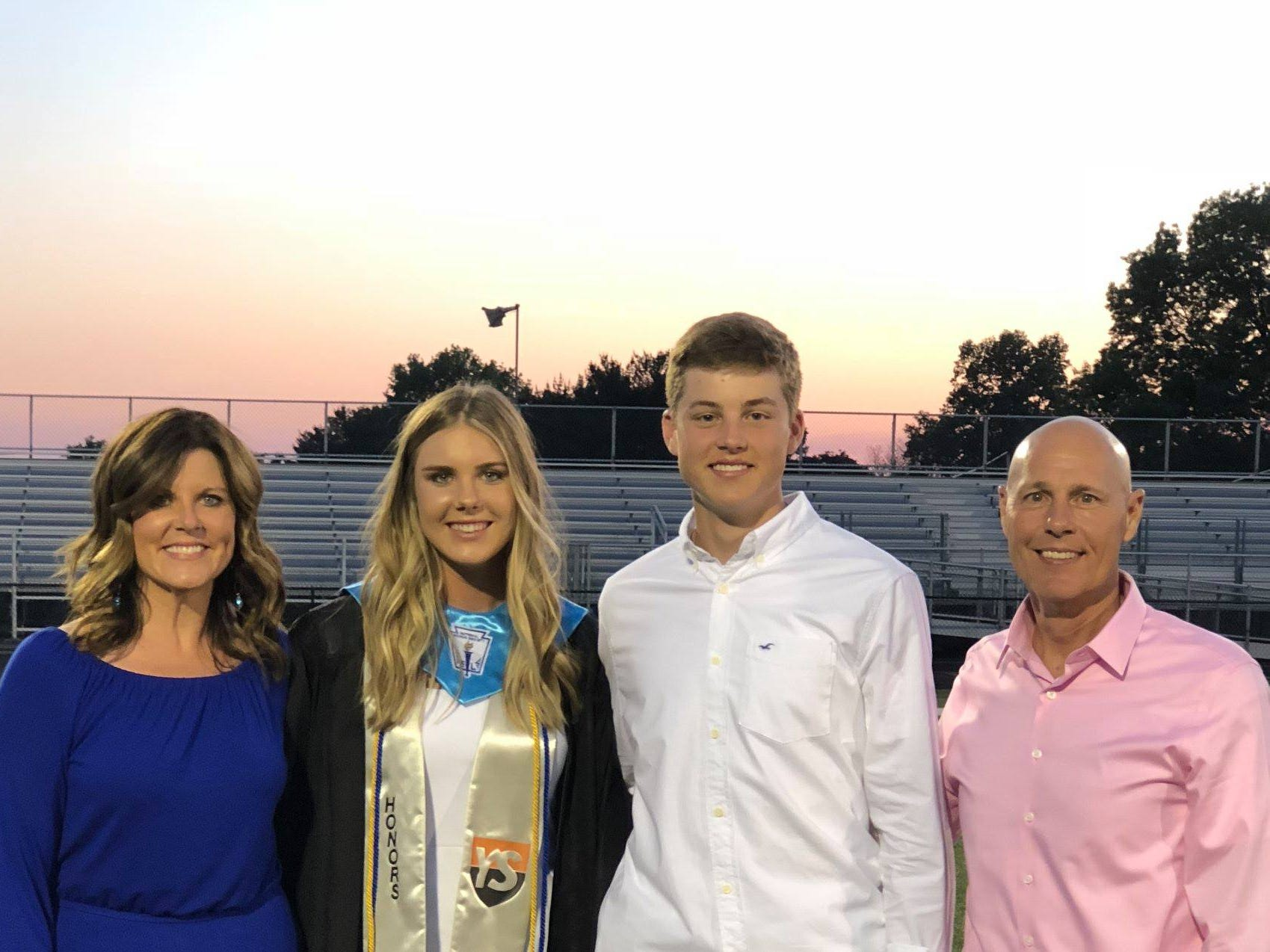 The York Suburban Education Foundation (YSEF) would like to acknowledge the outstanding contribution made to the organization by its outgoing President, Sarah Reinecker, and thank her for her leadership as president over the last four years. She is pictured with her familyÐ daughter Ali, son Maxwell and husband Scott. Submitted