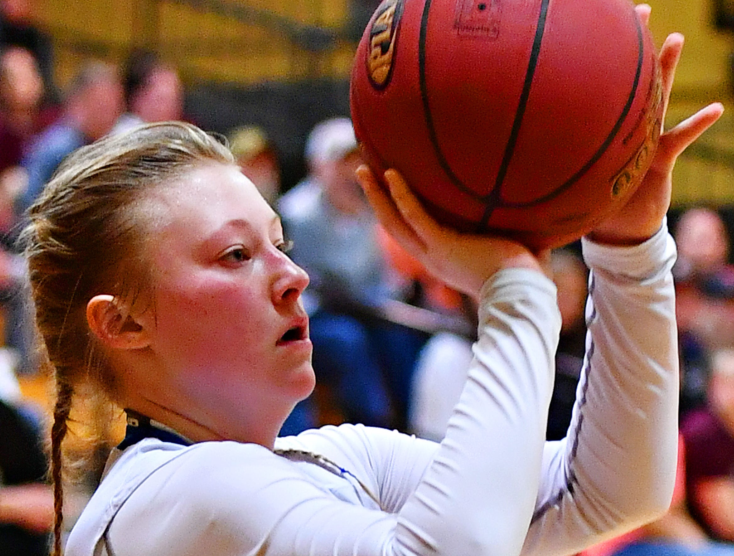 Kennard-Dale vs Mifflinburg during PIAA Class 4-A girl's basketball second round at Milton Hershey High School in Hershey, Wednesday, March 13, 2019. Mifflinburg would win the game 51-45. Dawn J. Sagert photo
