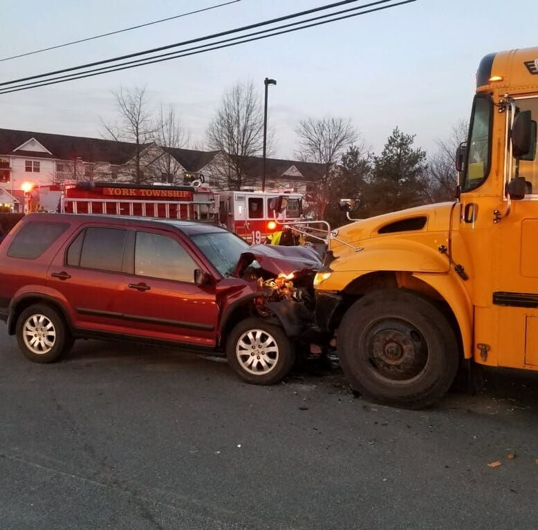 No injuries reported in school bus crash Thursday morning in York County