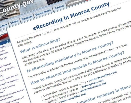 Monroe County's eRecord portal