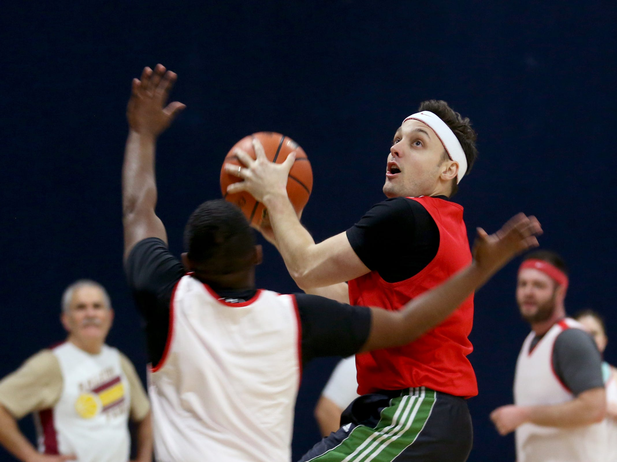 Senate players compete in the second annual House vs. Senate charity basketball tournament at the Boys & Girls Club in Salem on March 13, 2019. The tournament raised more than $10,000 for the Oregon Alliance of Boys & Girls Clubs.