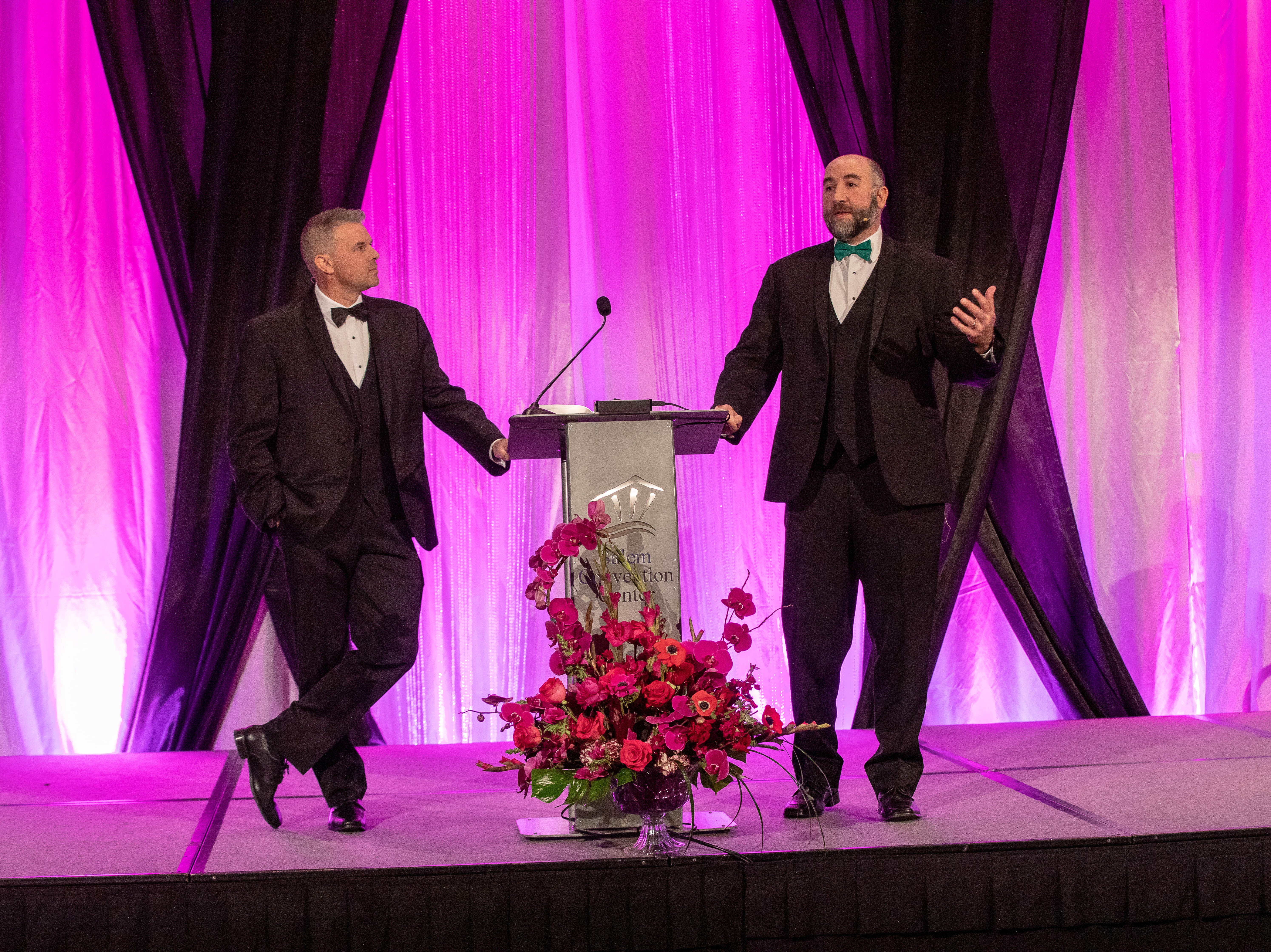 Don Sturgeon & TJ Sullivan, hosts of the First Citizen Awards Banquet March 8, 2019, at the Salem Convention Center.