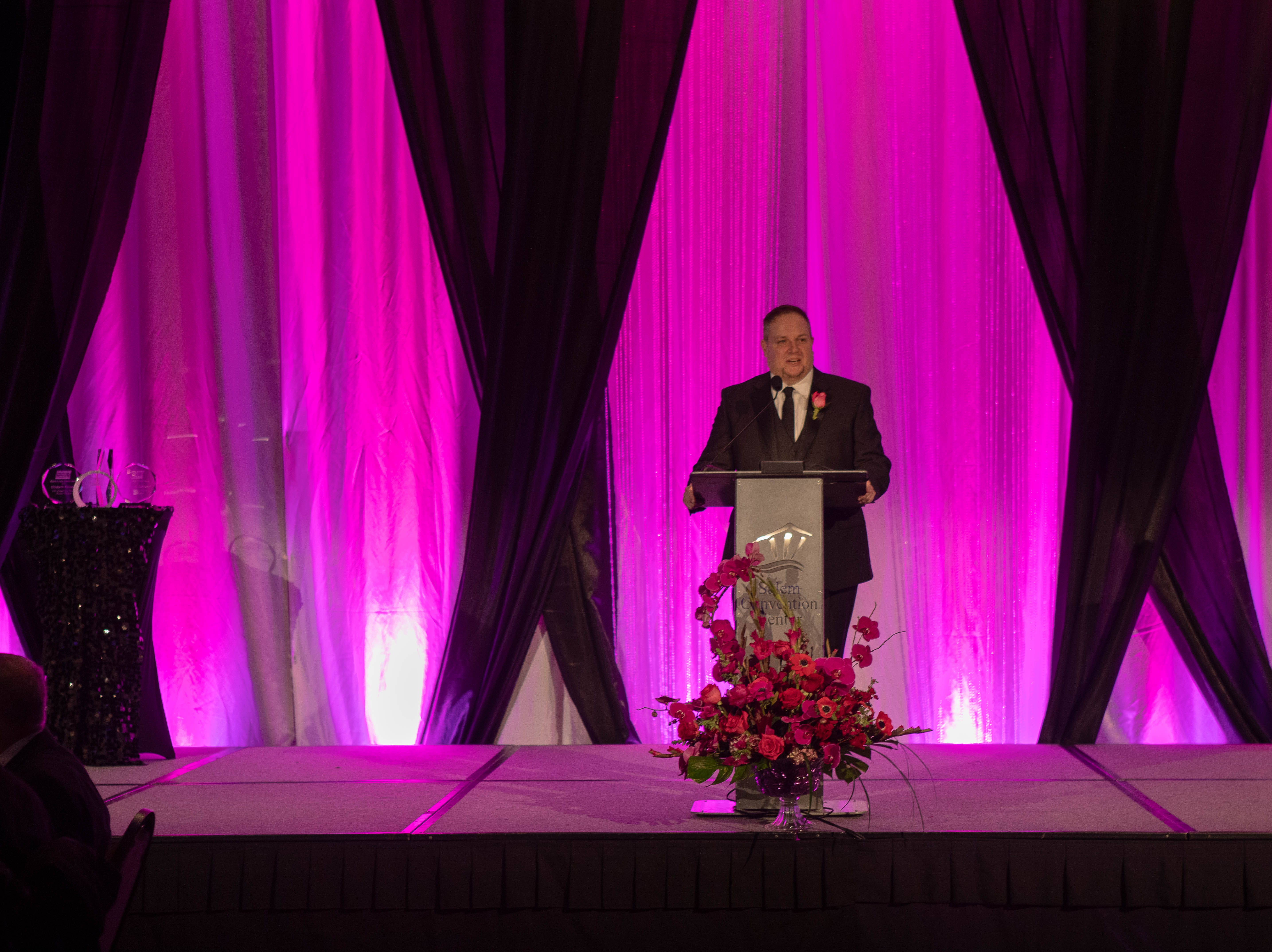 Tom Hoffert, CEO of Salem Area Chamber of Commerce, opening speech at the First Citizen Awards Banquet March 8, 2019, at the Salem Convention Center.