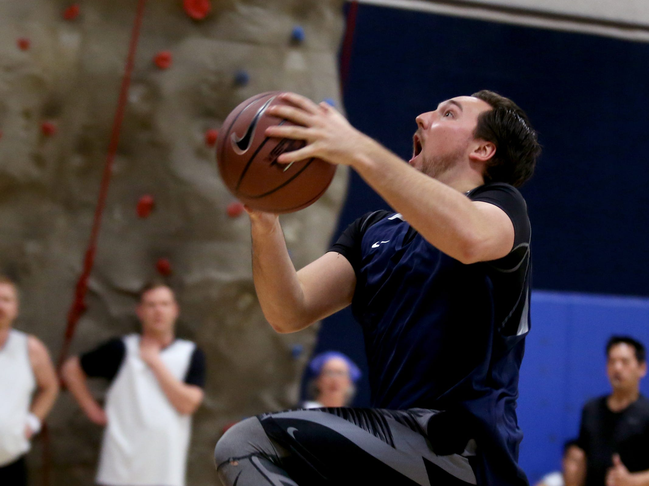 A House player competes in the second annual House vs. Senate charity basketball tournament at the Boys & Girls Club in Salem on March 13, 2019. The tournament raised more than $10,000 for the Oregon Alliance of Boys & Girls Clubs.
