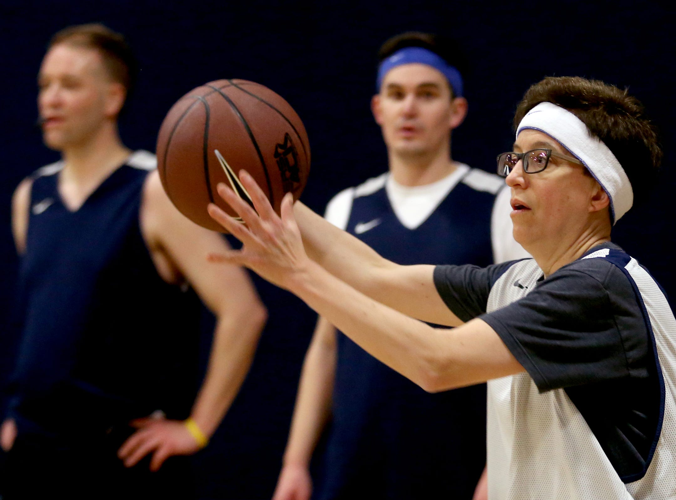 Speaker Tina Kopek competes in the second annual House vs. Senate charity basketball tournament at the Boys & Girls Club in Salem on March 13, 2019. The tournament raised more than $10,000 for the Oregon Alliance of Boys & Girls Clubs.