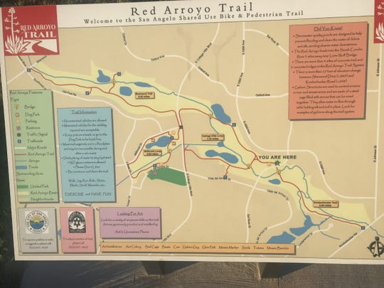 Map of the Red Arroyo Trail