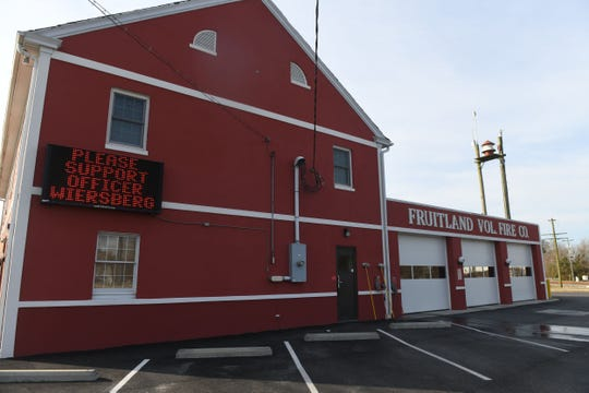 The Fruitland Volunteer Fire Company is showing their support for Officer Wiersberg on Thursday, March 14, 2019.