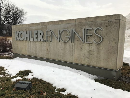 The entrance to the Kohler Co. Engines division as seen on Thursday, March 14 in Kohler, Wis.