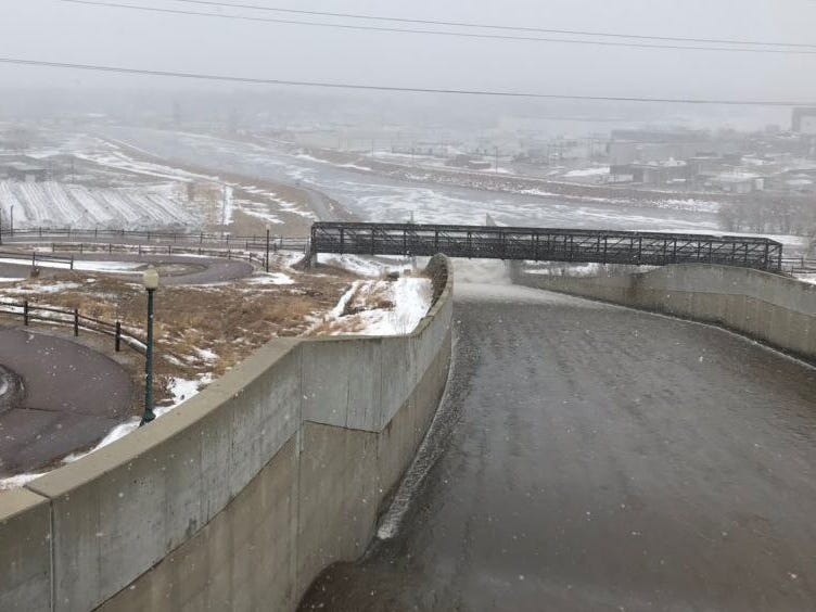 The spillway from North North Drive