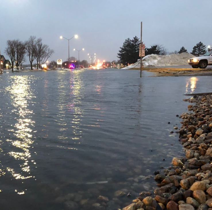 Here's a map of the intersections that are closed in Sioux Falls due to flooding