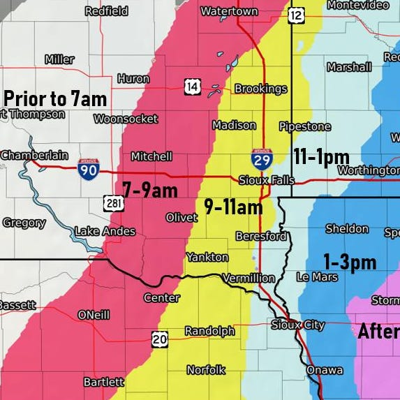Sioux Falls weather: Rain, snow to impact Thursday commute