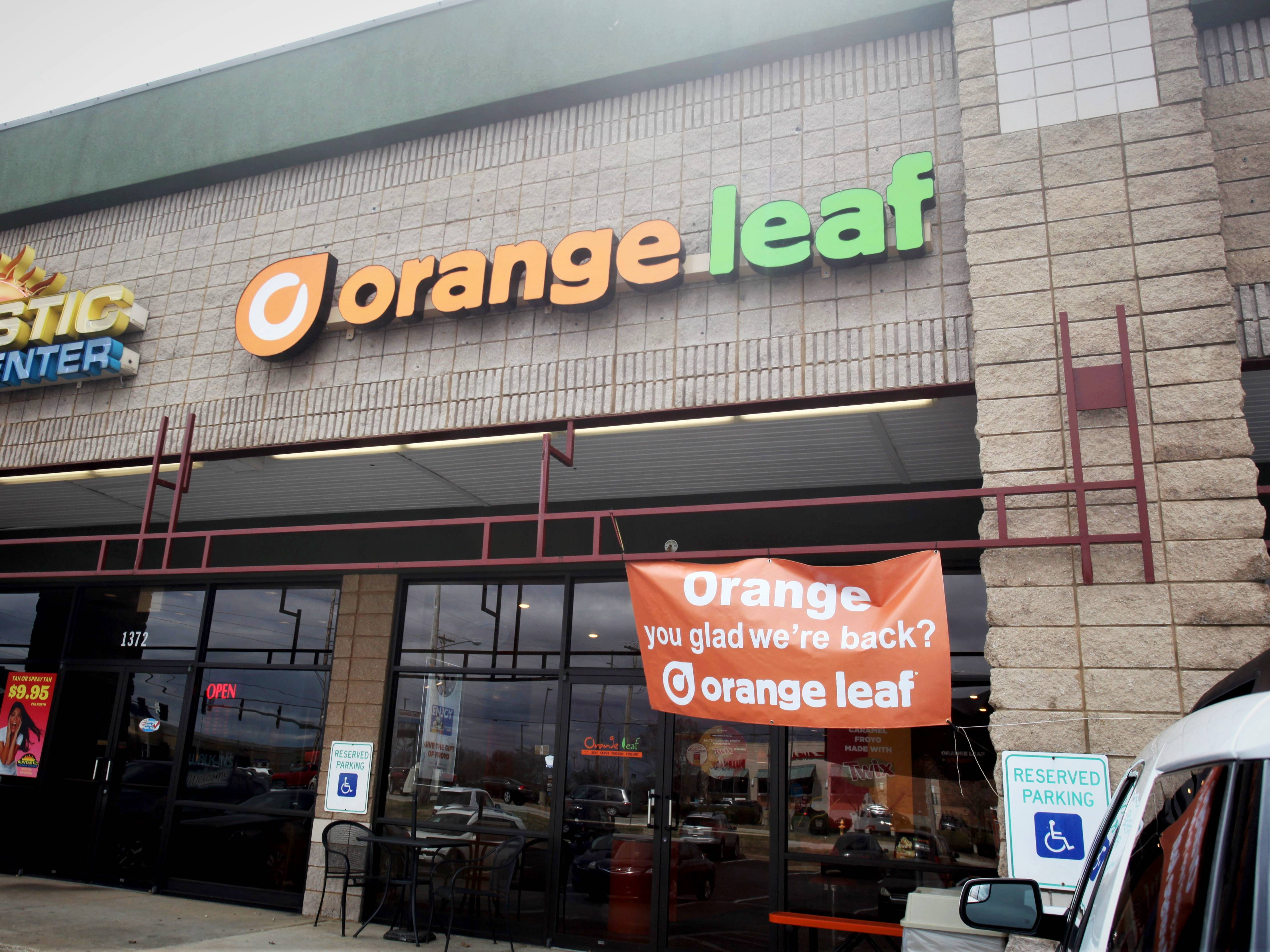 Orange Leaf has returned to its location at 1368 E. Republic Road in Springfield as of March 14, 2019.