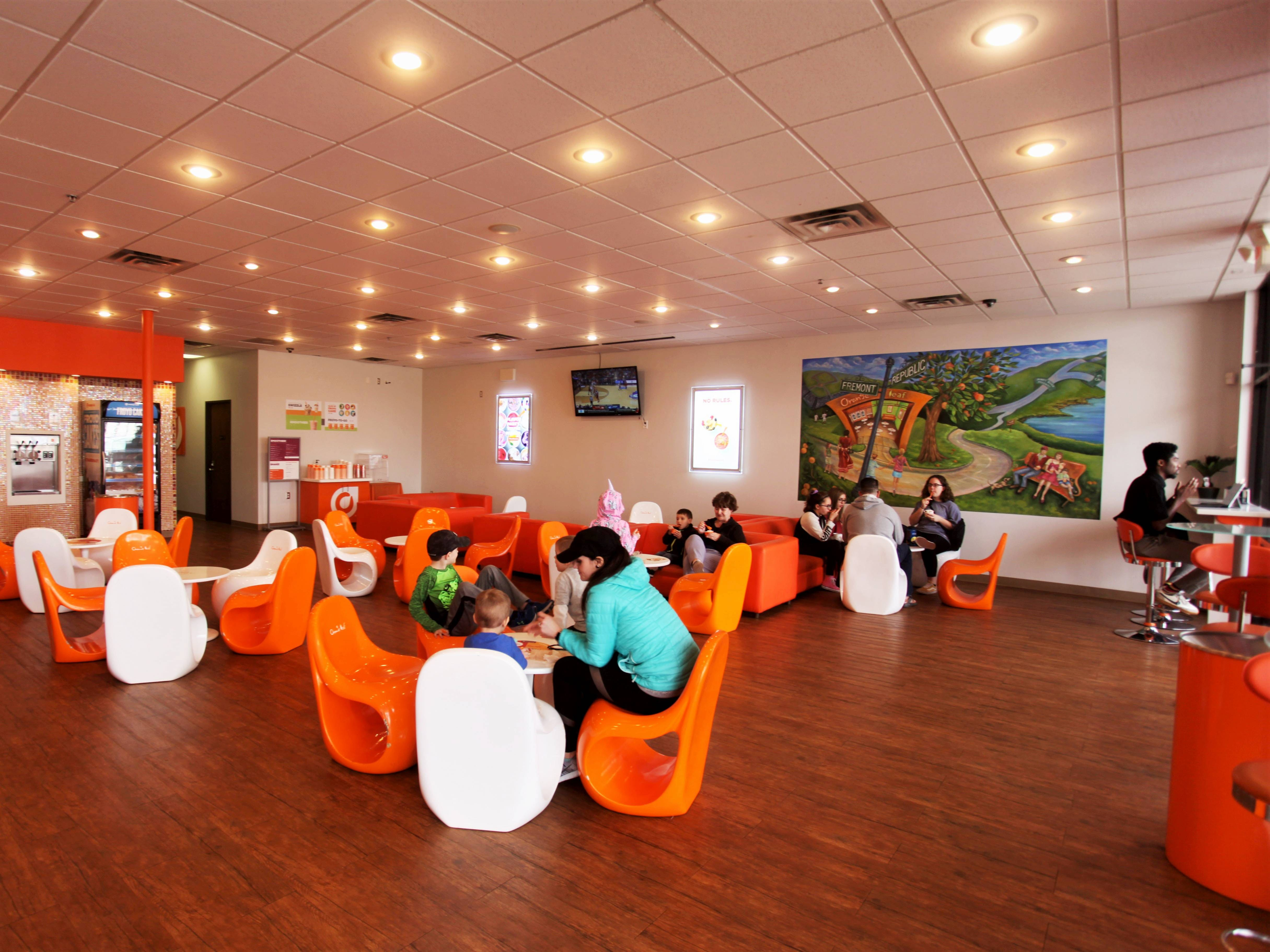 Orange Leaf closed in December 2018 after then-owner Curt Bartell cited bad investments and health issues. Amber and Jim Troye reopened the store on March 14, 2019.