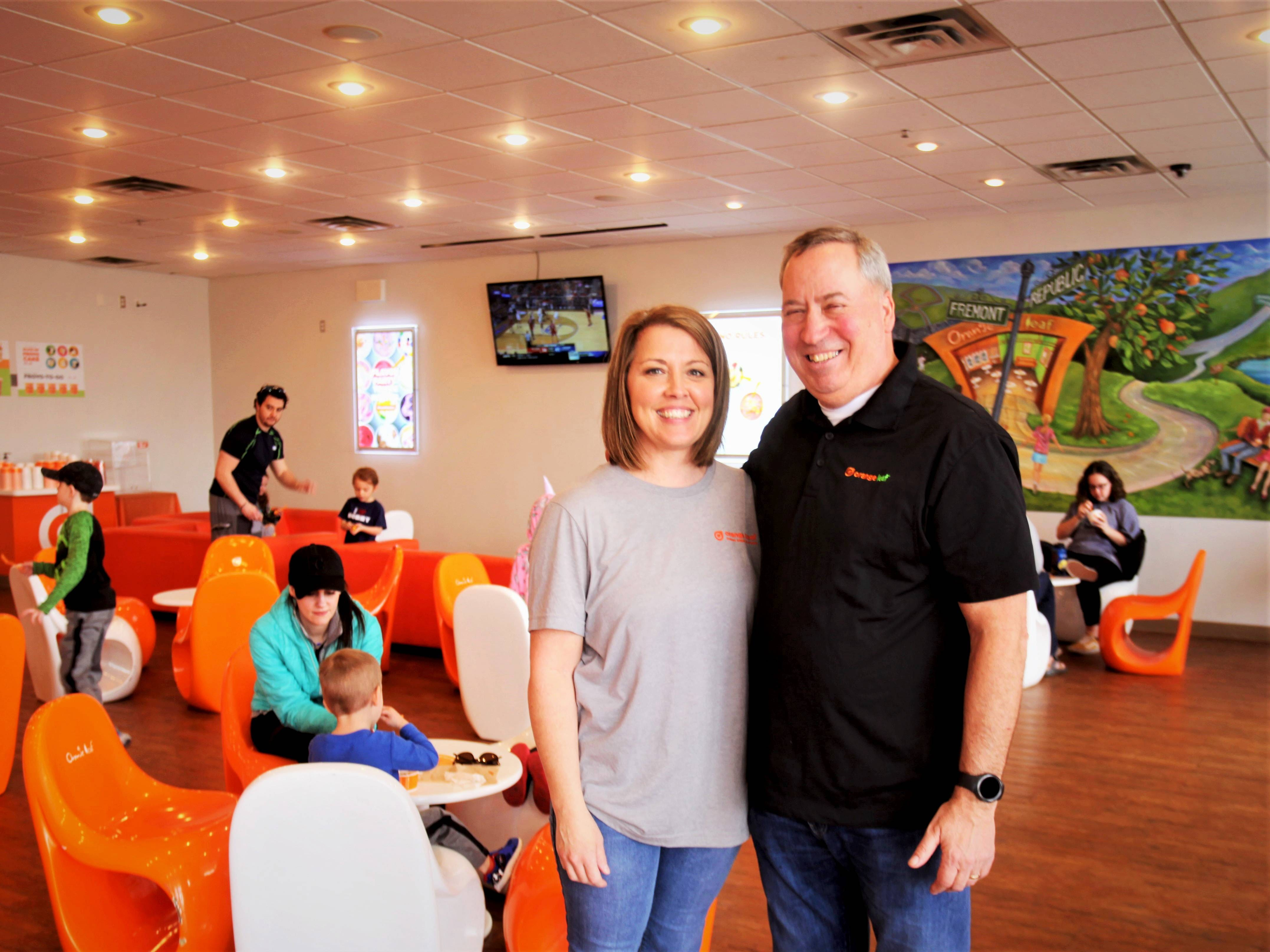 Orange Leaf franchise owners Amber and Jim Troye reopened the store at 1368 E. Republic Road in Springfield on March 14, 2019.