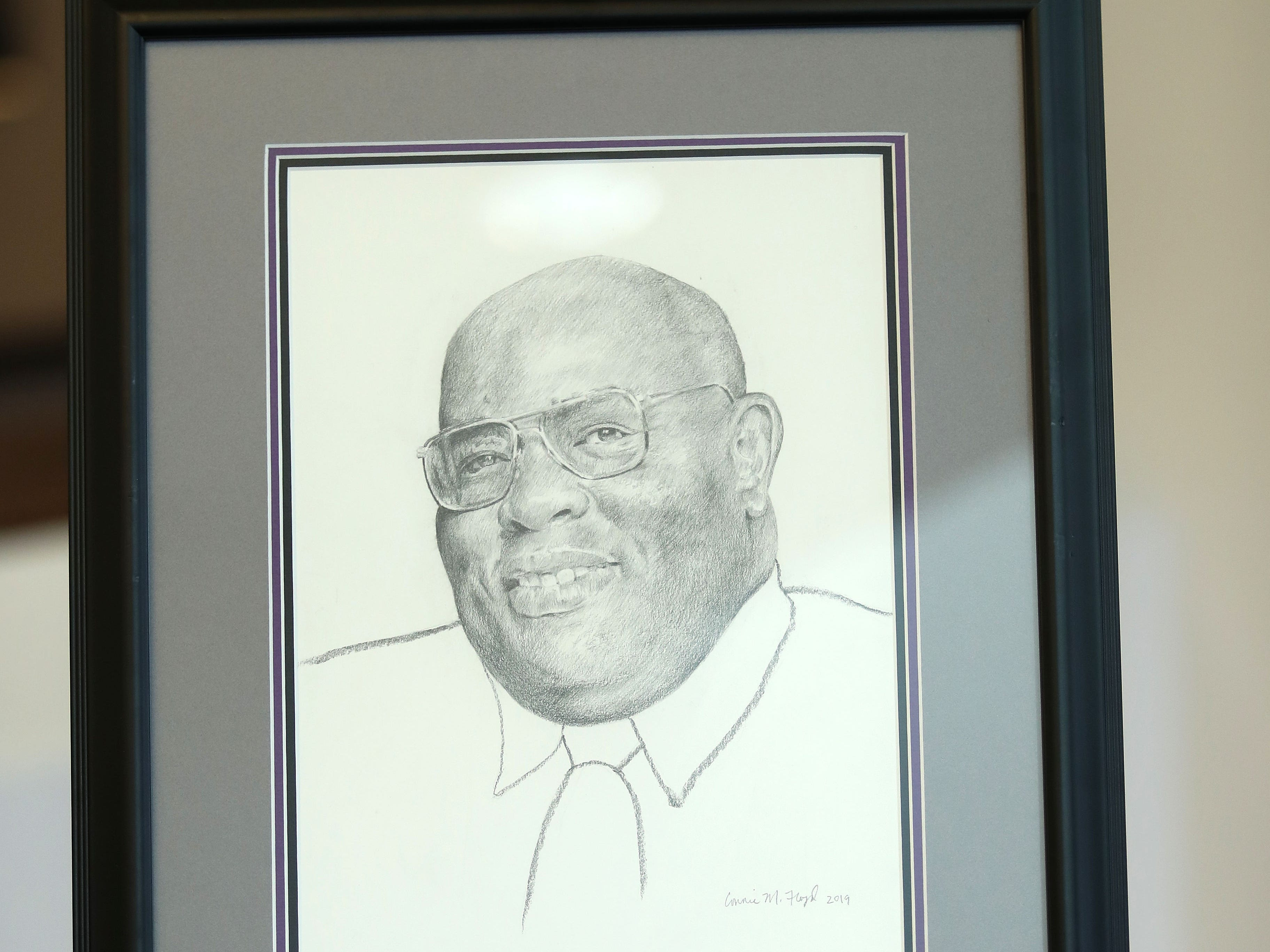 Charcoal drawing of Alvin Hollins.