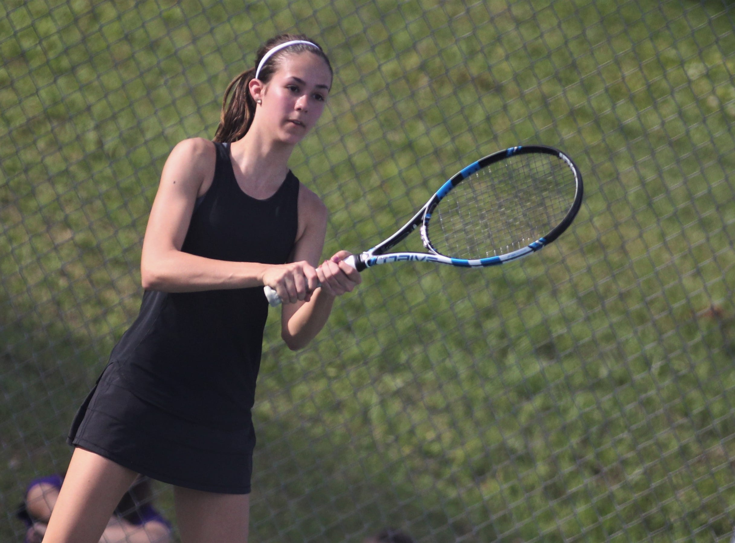 Chiles sophomore Harli Neshat plays during the boys and girls tennis city tournament at Tom Brown Park on March 13, 2019.