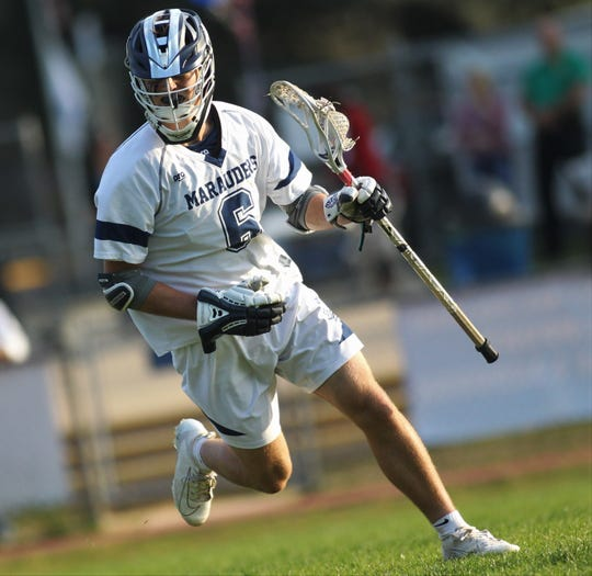 Maclay junior Matthew Winegardner makes a move towards goal as the Marauders beat Leon 15-5 on their annual Military Appreciation Night on March 12, 2019.