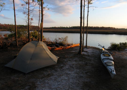 Chaires Creek campsite on the Circumnavigational Trail.