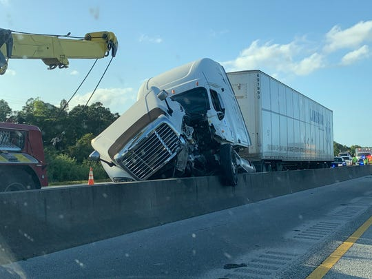 A crash happened about 6:30 p.m. Thursday southbound on the turnpike, north of Port St. Lucie Boulevard.