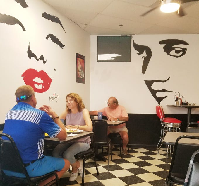 The walls of Sammy J's are adorned with celebrity silhouettes and plenty of memorabilia.