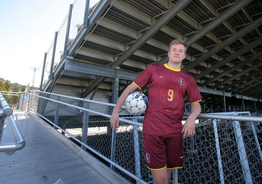 Dylan Studer moved to central defender for his junior season at Simi Valley High, and led the Pioneers to a 23-2 season and a Coastal Canyon League title.