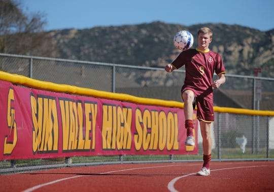 Dylan Studer was a force on defense for Simi Valley in his junior season.
