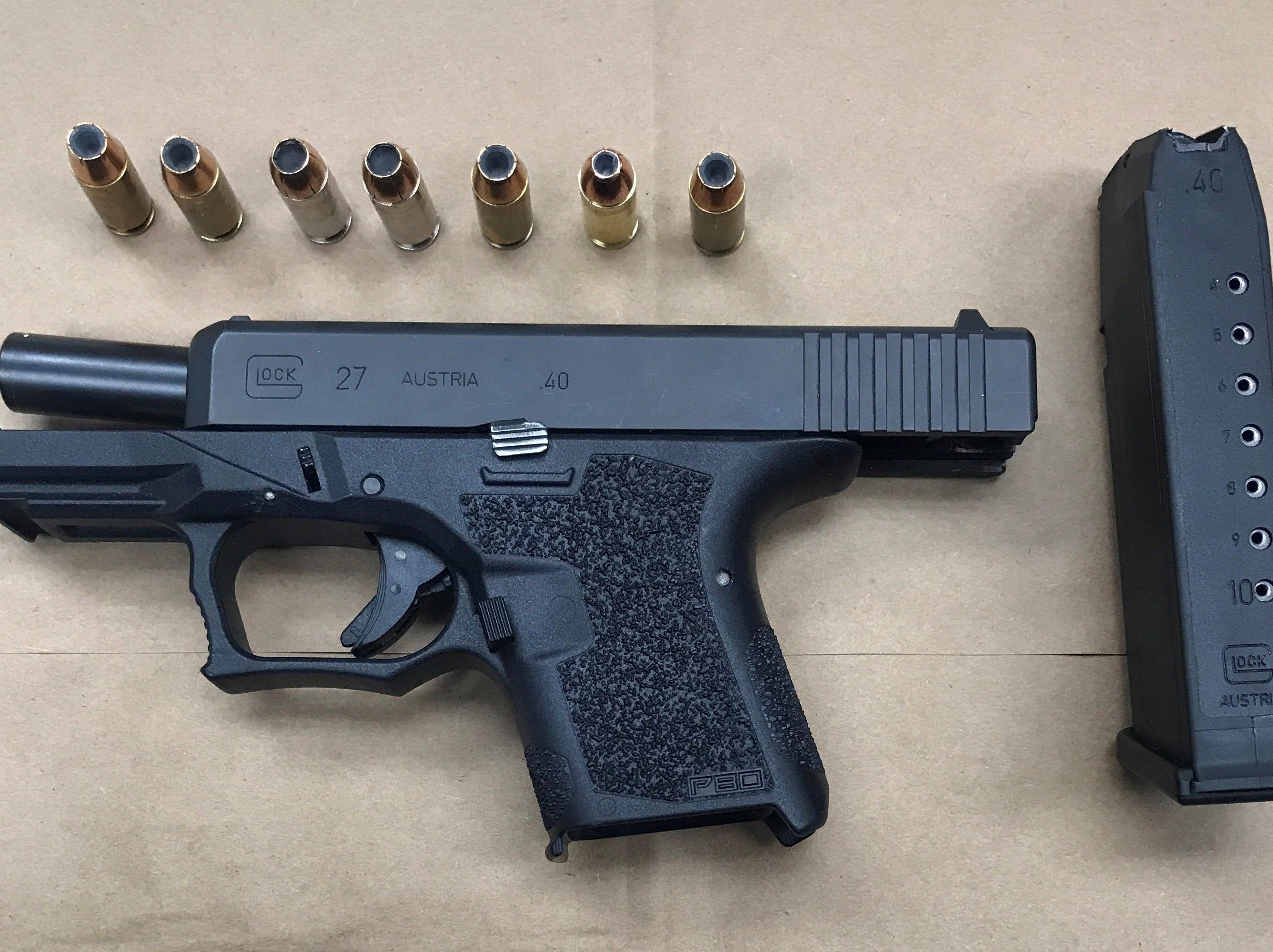 This firearm was recovered during a Wednesday evening search by Oxnard police.