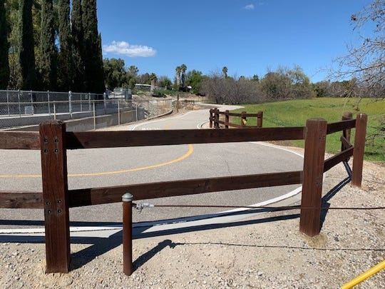 An existing bicycle and pedestrian path runs through the 14-acre site where the Conejo Recreation & Park District is planning to build a new neighborhood park.