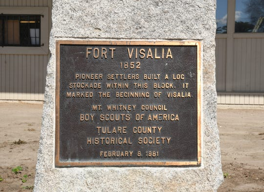 A 1981 monument recognizes Fort Visalia, thought to be the city's birthplace, at 300 E Oak Ave.