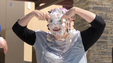 Riverway Elementary School students and staff celebrate Pi Day on Thursday.