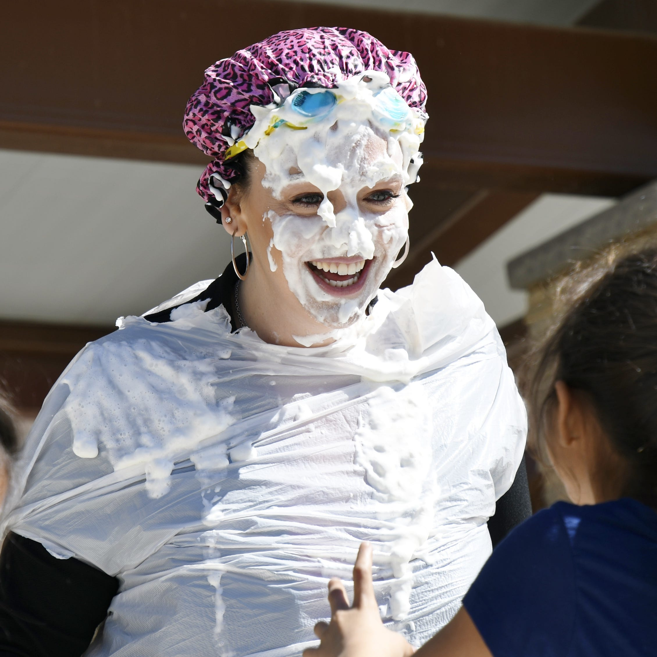 Visalia teachers celebrate Pi Day with a pie in the face