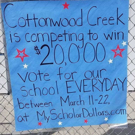 Cottonwood Creek Elementary in Visalia is one of several local schools competing in this year;'s Scholar Dollars competition.