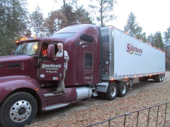 Doug Christianson owns the truck he used to haul loads across the country for Sparhawk Trucking of Wisconsin Rapids.