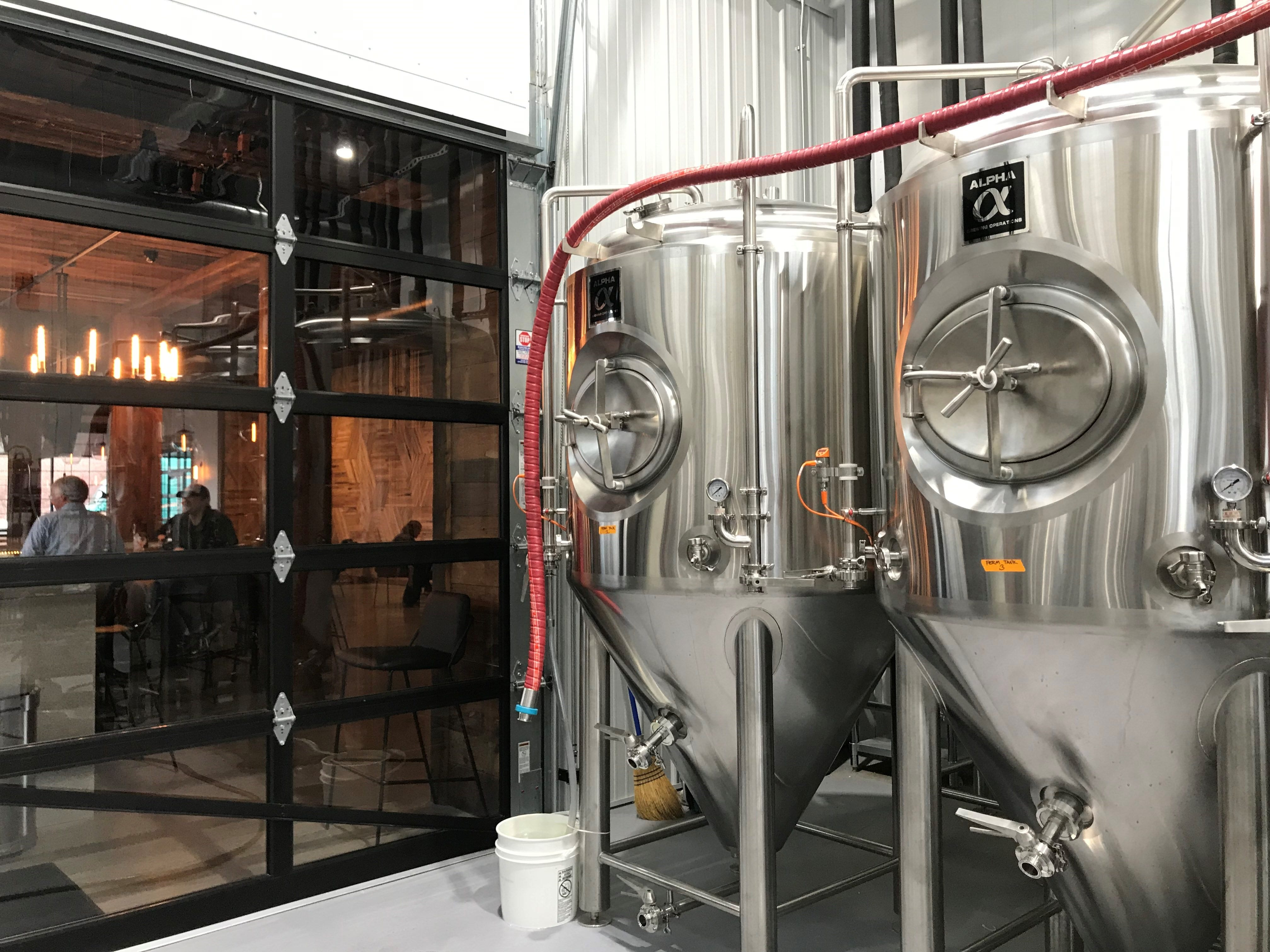 The back brewing room is now in full use at Mosinee Brewing Company as they begin brewing their own recipes.