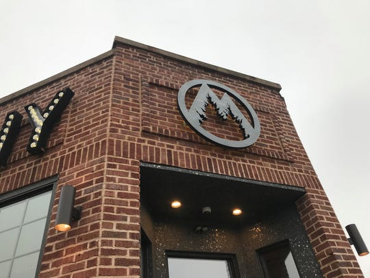 The exterior front of Mosinee Brewing Company on downtown Fourth Street displays the new brewery's logo. The brewery began crafting its own beer on March 12, 2019 after finally receiving its federal license.