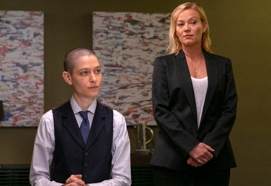 """Asia Kate Dillon as Taylor in """"Billions."""" Season 4 of the Showtime drama debuts March 17."""