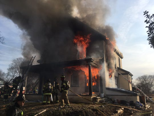 A home has been engulfed by flame on Mill Creek Road in Mill Creek.