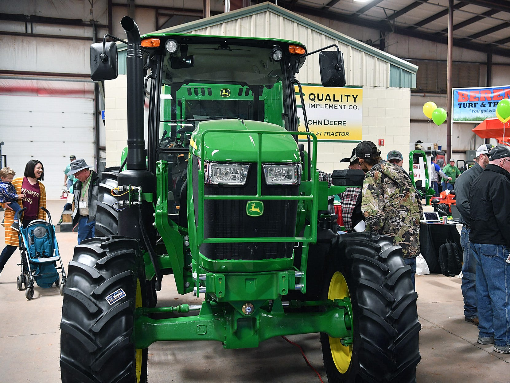 Tractors of all shapes and sizes were on display at the 10th Annual Wichita Falls Ranch and Farm Expo Thursday at the Bridwell Ag Center.