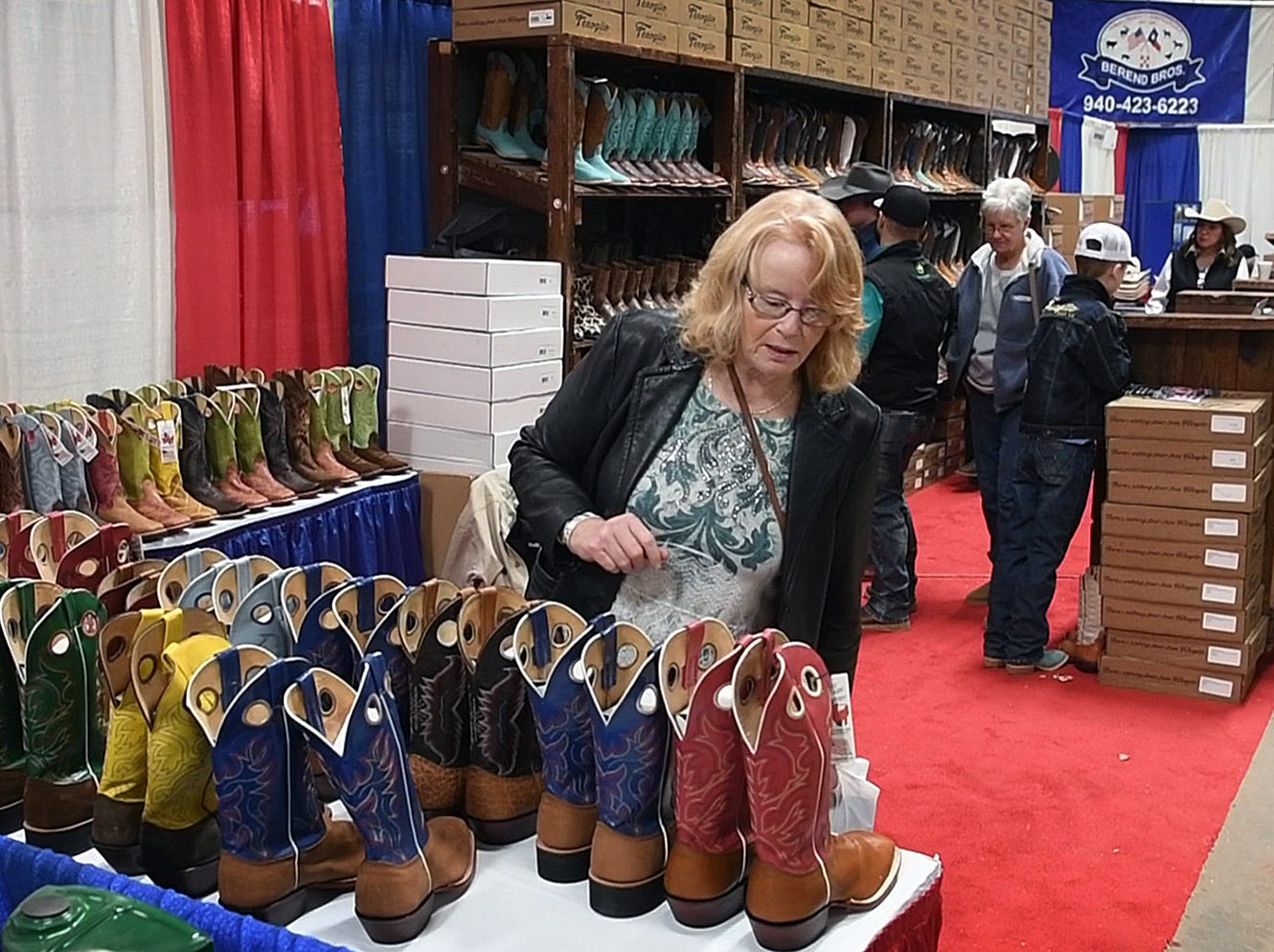 Fenoglio Boots was one about 150 vendors and exhibitors at the 10th Annual Wichita Falls Ranch and Farm Expo at the Bridwell Ag Center Thursday.