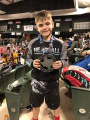 Maddox Fields finished second in his Division 2 weight class at the Texas USA Open State Championship Tournament.