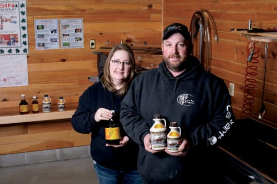 Manitowoc couple Margo and Jesse Wagner of Inthewood Sugar Bush.