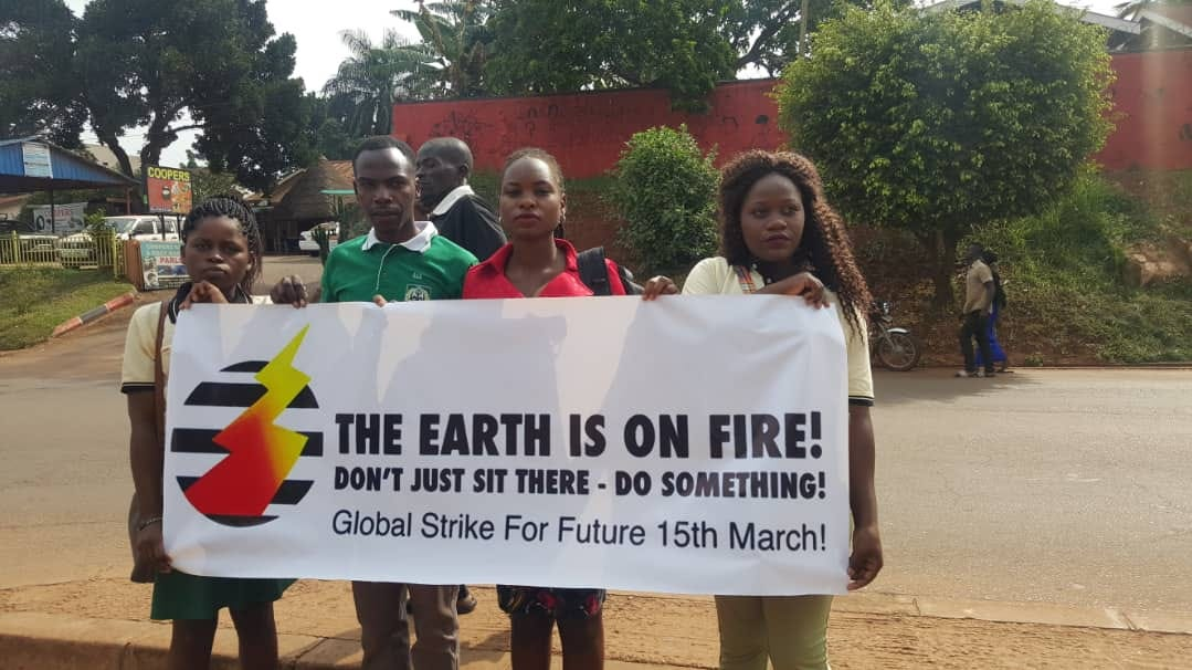 Ugandan students join others worldwide to protest climate inaction