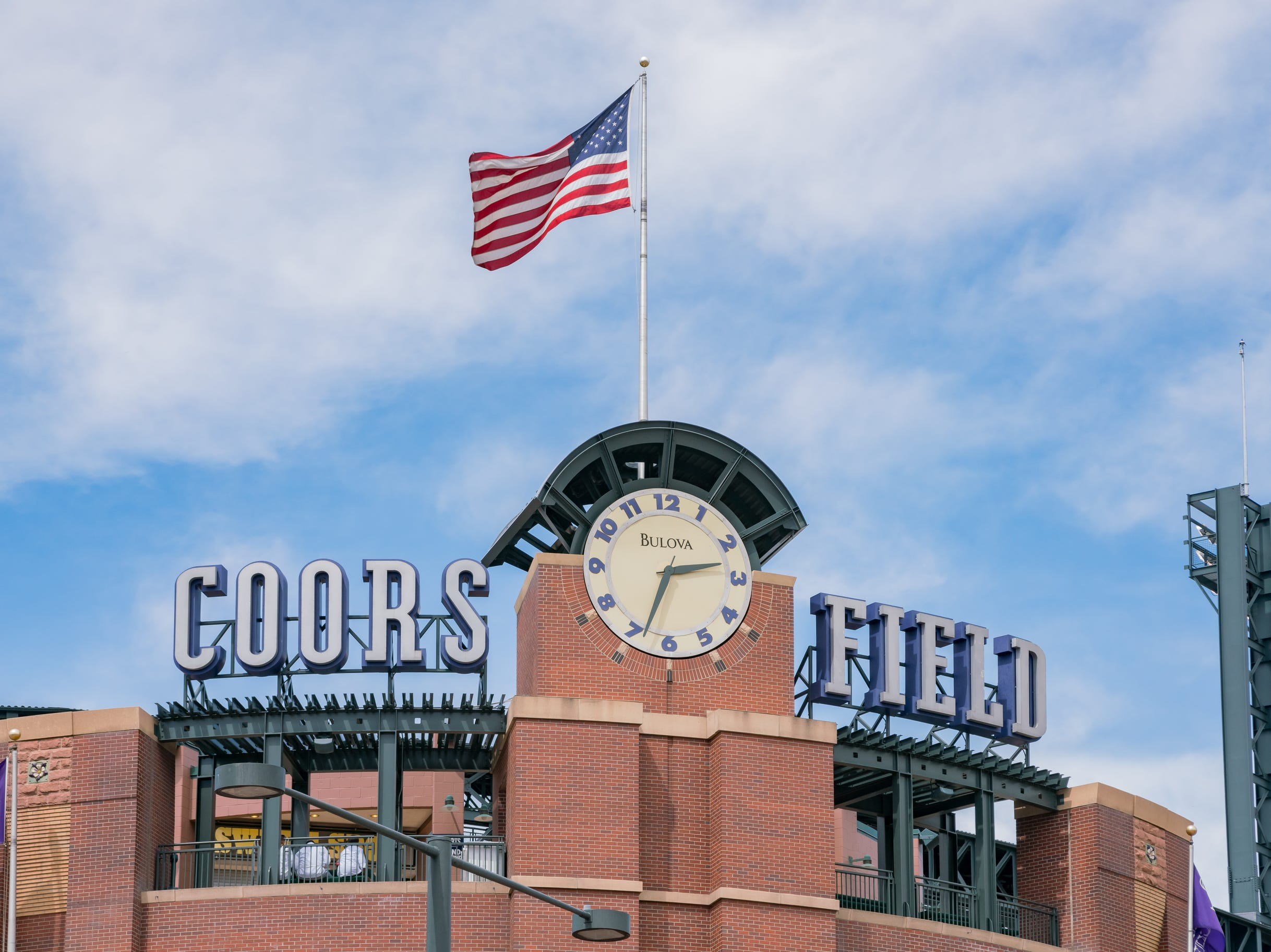 Denver, MAY 7: Exterior view of Coors Field on MAY 7, 2017 at Denver, Colorado - Denver Chon Kit Leong Coors Field
