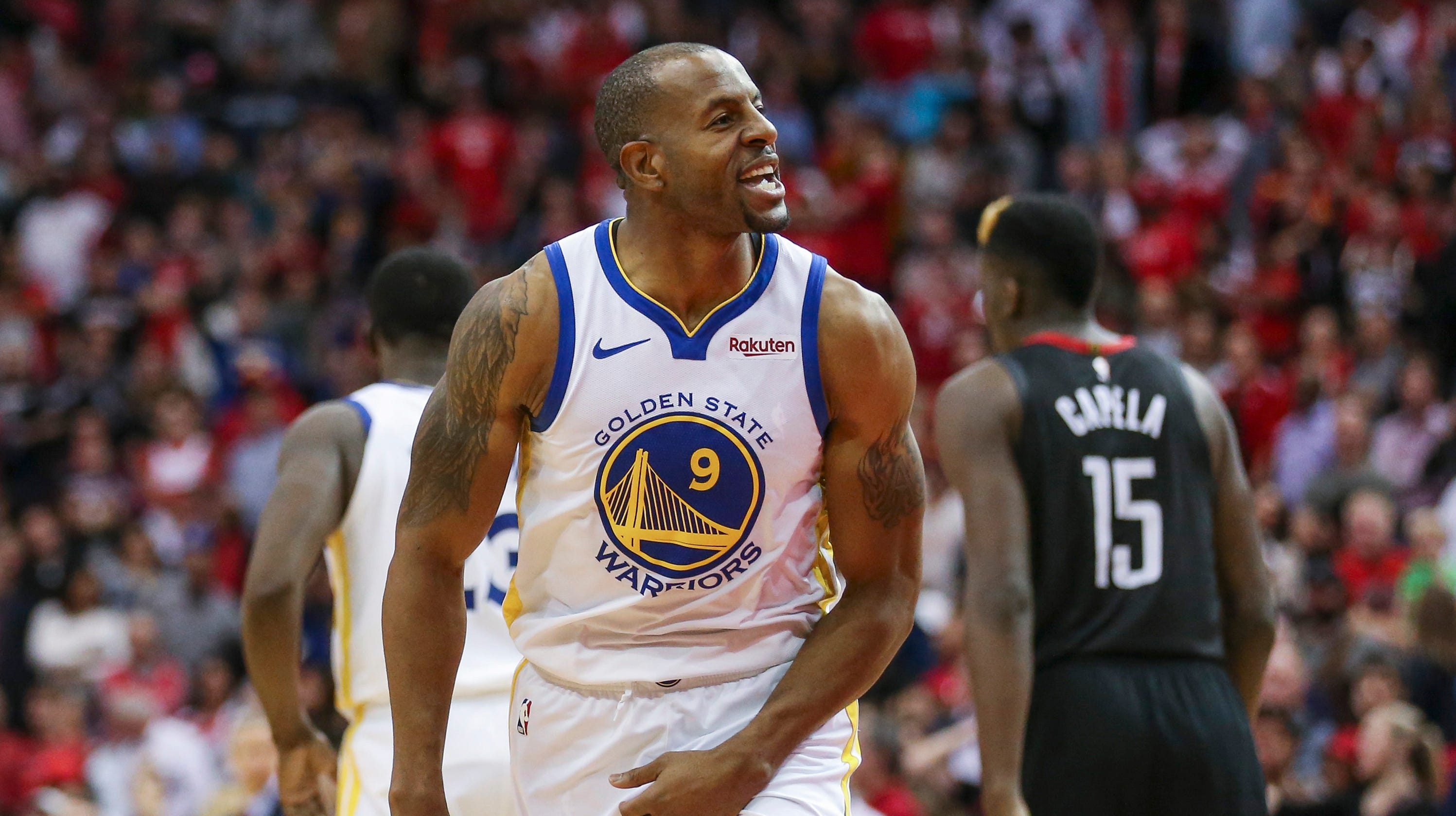 ab85a319baaa Warriors beat Rockets as DeMarcus Cousins goes for season high