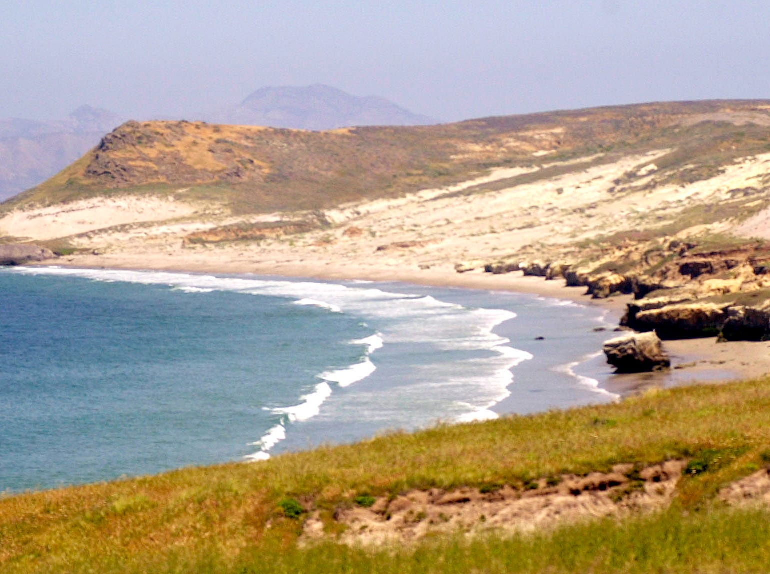 ** FILE ** Santa Rosa Island in Channel Islands National Park off the coast of Southern California, is seen here in a  March 8, 2005, file photo. Congressional Democrats intend to move the week of Dec. 17, 2007, to repeal a law allowing deer and elk hunts to continue indefinitely on the island.(AP Photo/Santa Barbara News-Press, Mike Eliason, File) ORG XMIT: CABAR501