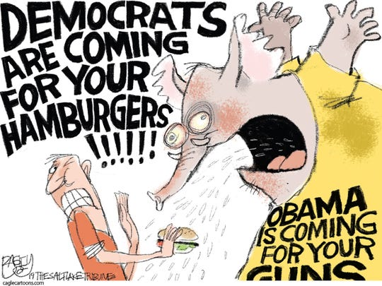 War on hamburgers