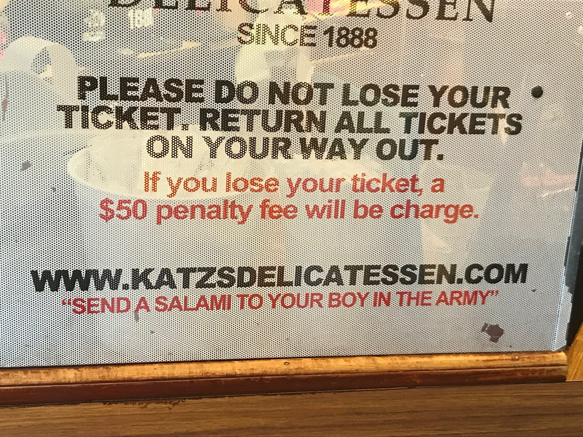All customers receive a ticket on which their orders are totaled, and must hand it over to exit – or face a $50 fee.