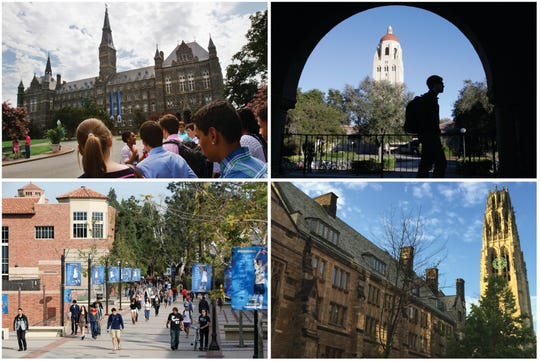 Authorities say parents paid bribes to get their kids into elite universities.