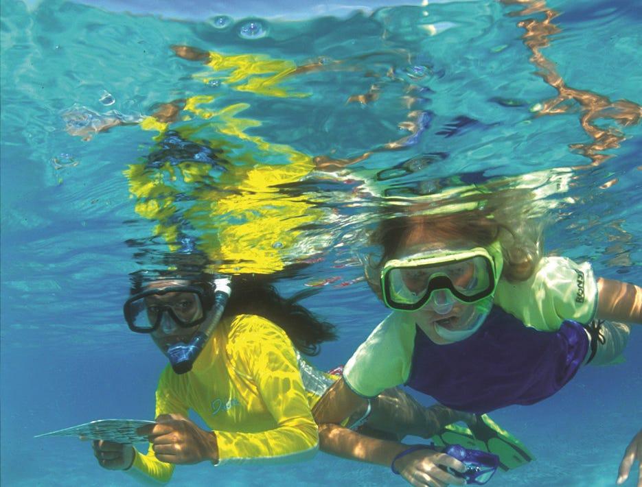 TEN GREAT  ST. JOHN VIRGIN ISLANDS --  Snorkelers can follow a 225-yard underwater trail at Virgin Islands National Park in St. John.  HANDOUT Credit: VisitUSVI.com  [Via MerlinFTP Drop]