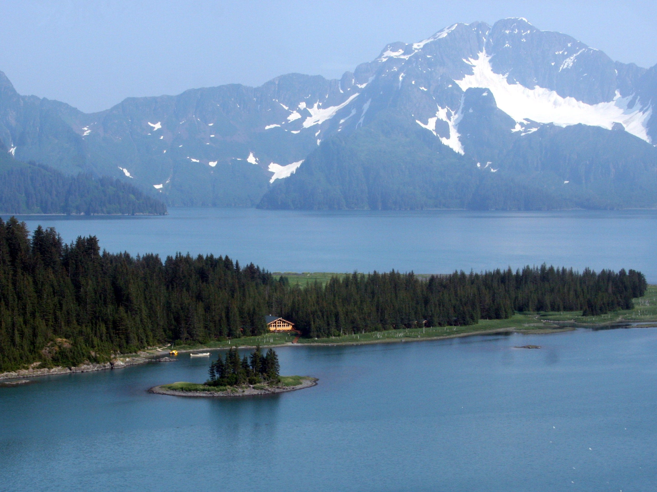 TEN GREAT ECO LODGES--  Alaska's Kenai Fjords Glacier Lodge is located in a national park and can only be reached by boat.   HANDOUT Credit: Alaska Wildland Adventures  [Via MerlinFTP Drop]